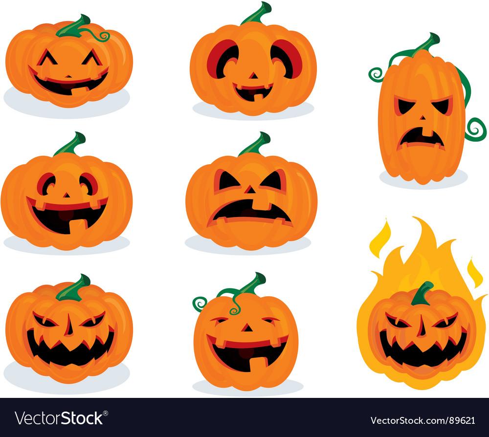 Pumpkin Face Pictures: Pumpkin Faces Royalty Free Vector Image