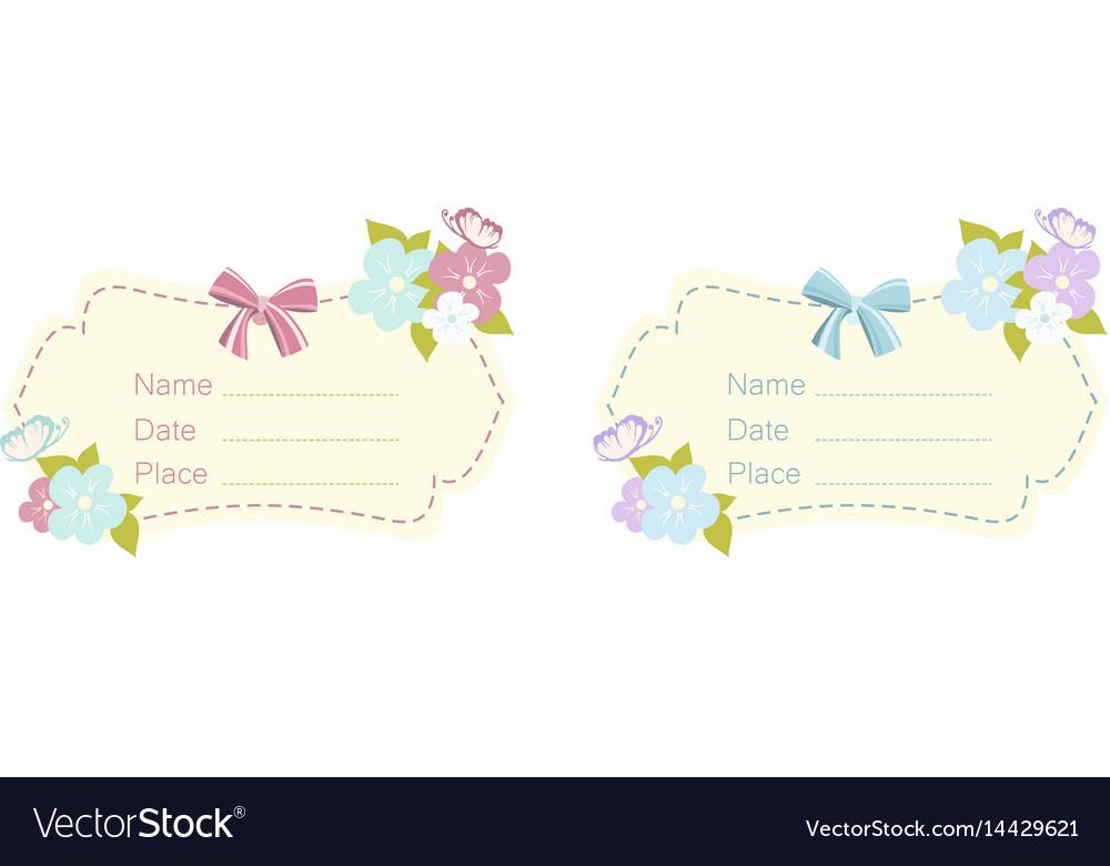 Set of babe shower card