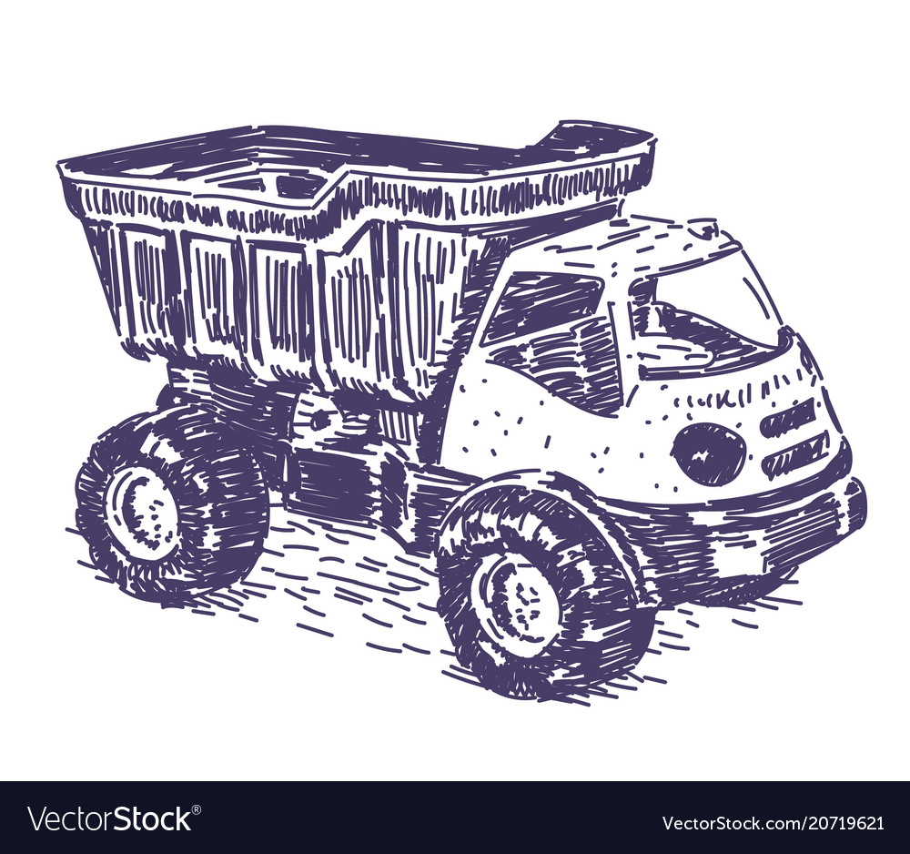 Toy truck drawing