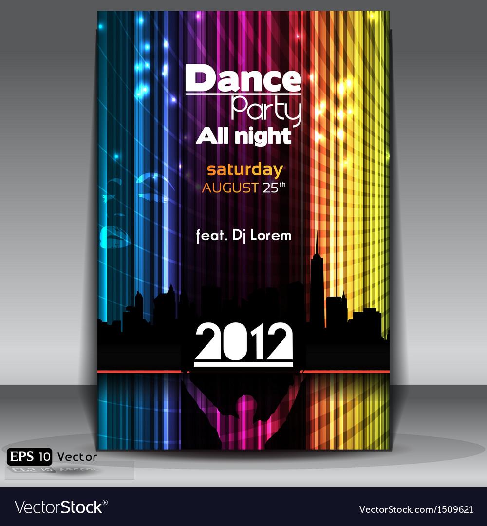 Urban dance party flyer
