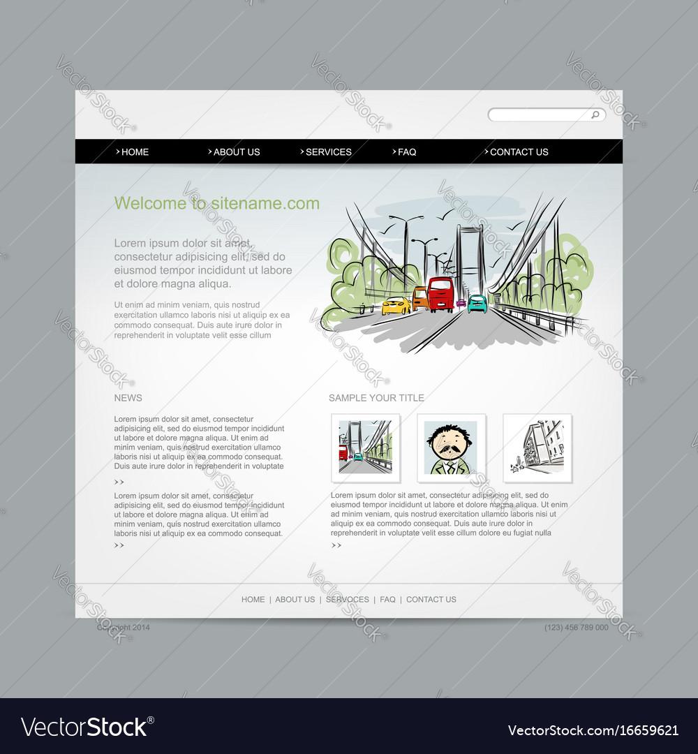 Website design template cityscape
