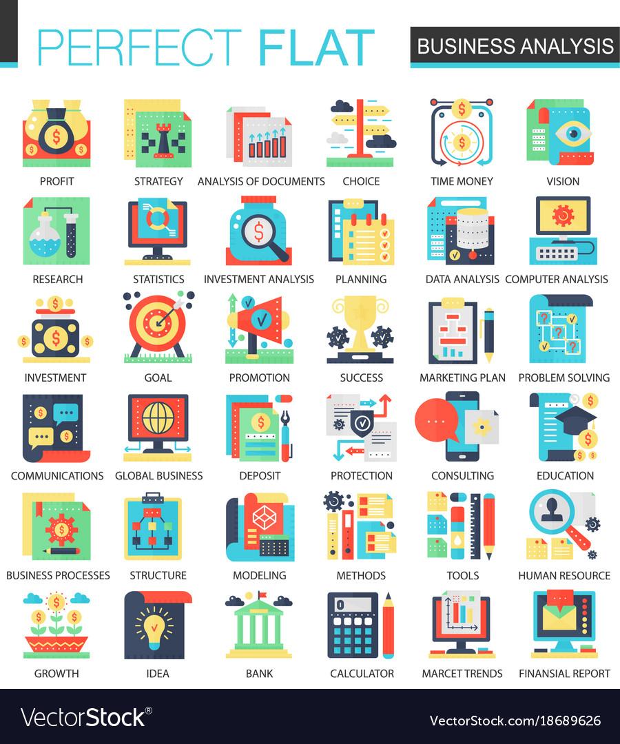 Business analytics complex flat icon