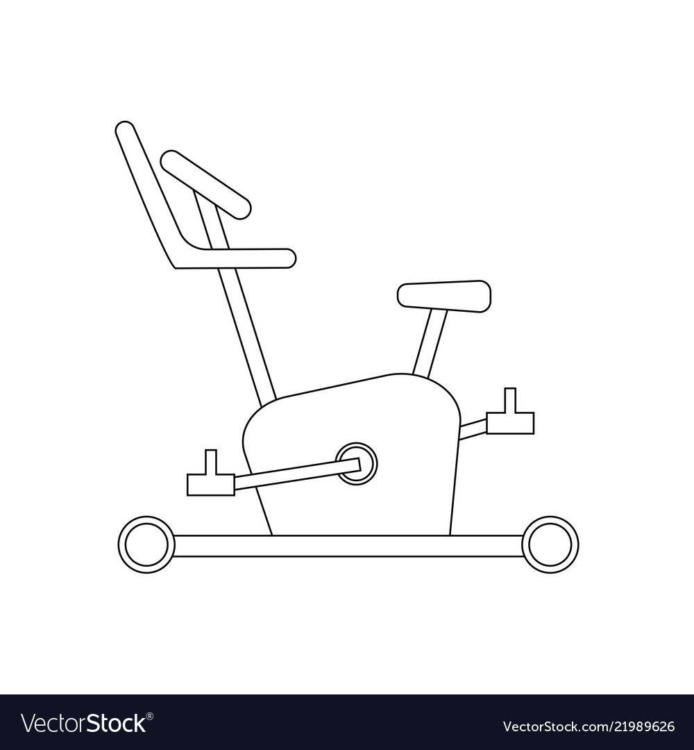 Exercise Bike Coloring Page Royalty Free Vector Image