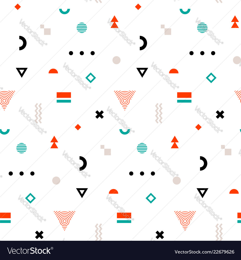 Trandy memphis seamless pattern repetitive print