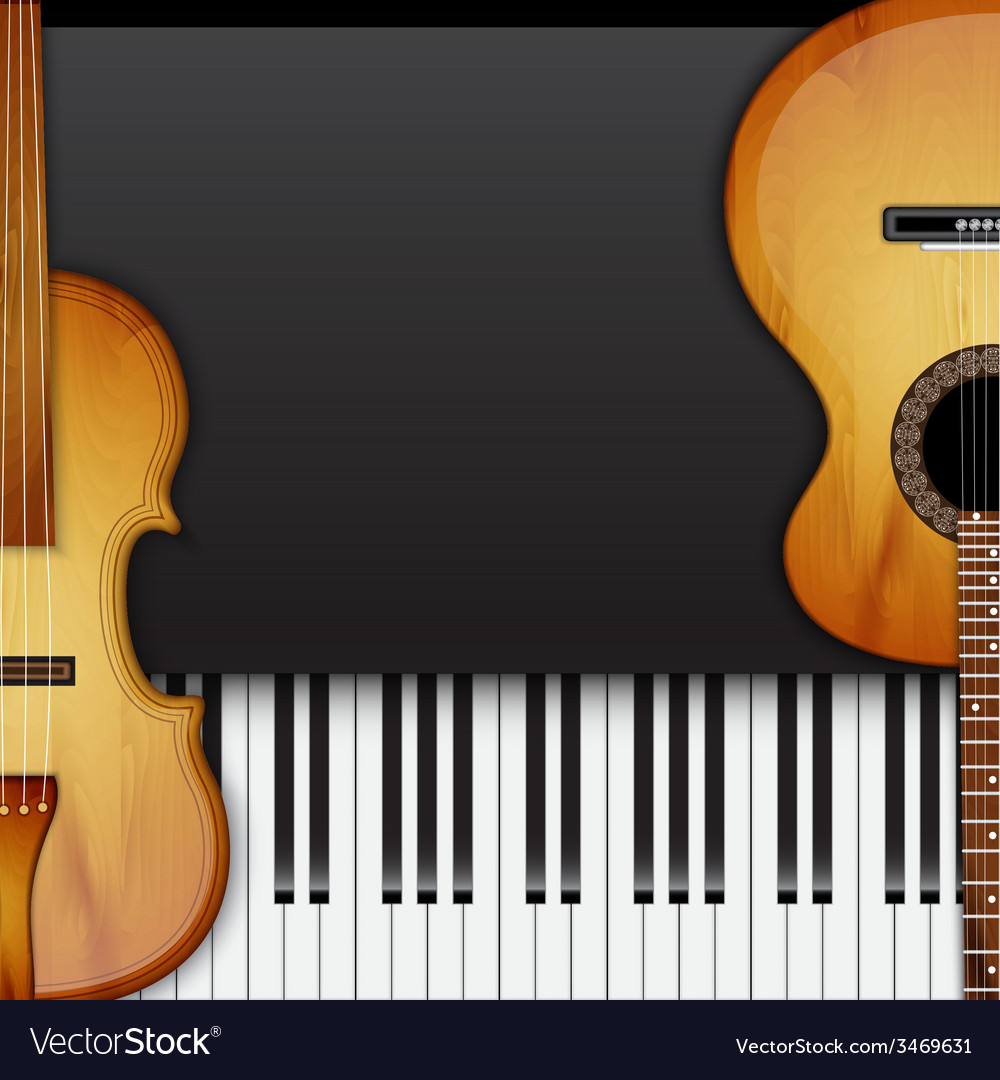 Background with violin vector image