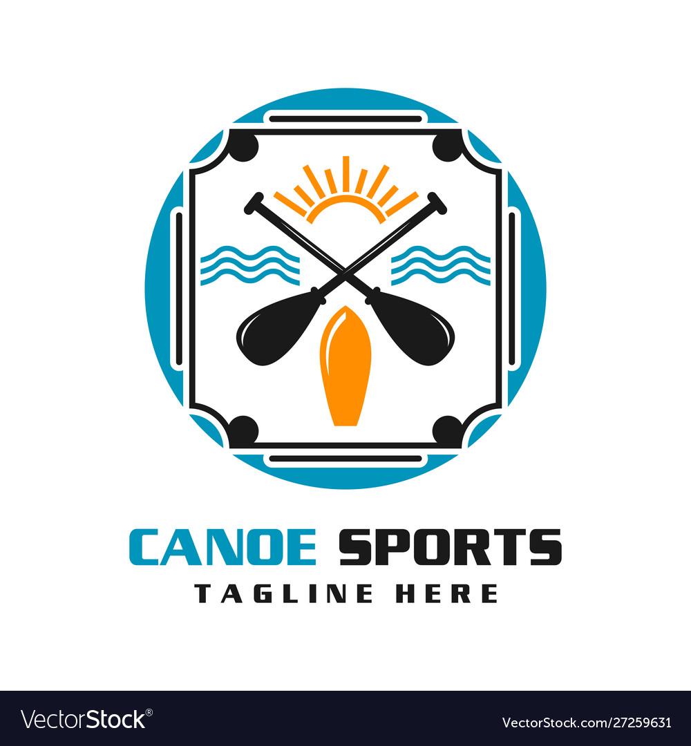Canoe sports logo