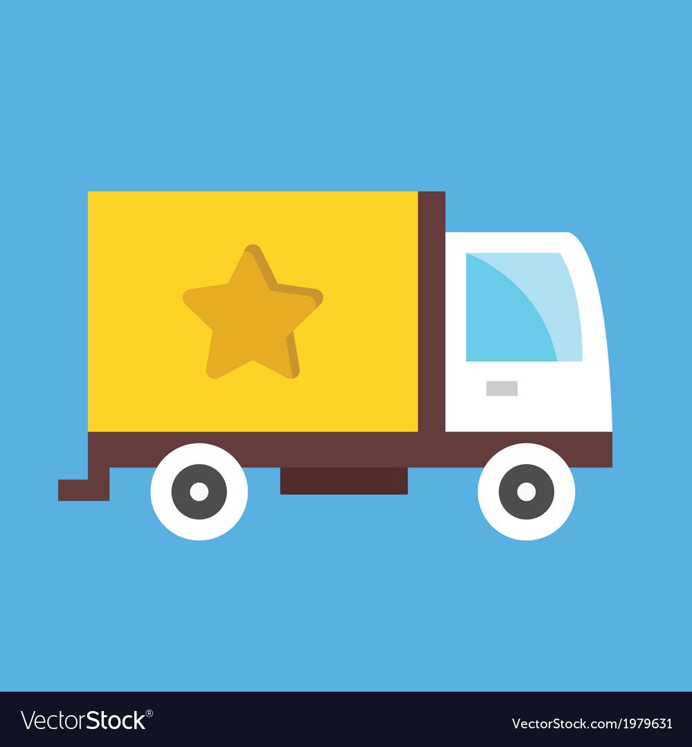 Cargo Delivery Truck Icon vector image