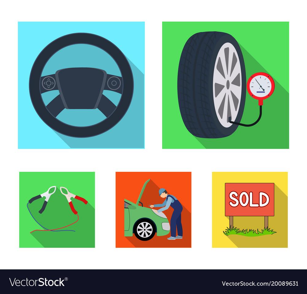 engine adjustment steering wheel clamp and wheel vector image