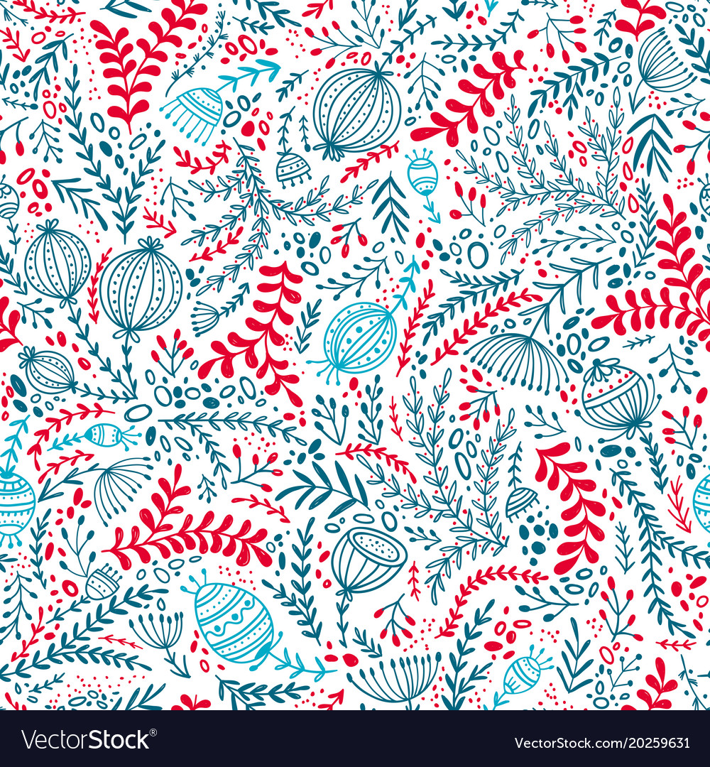 Ethnic style floral colorful seamless pattern vector image