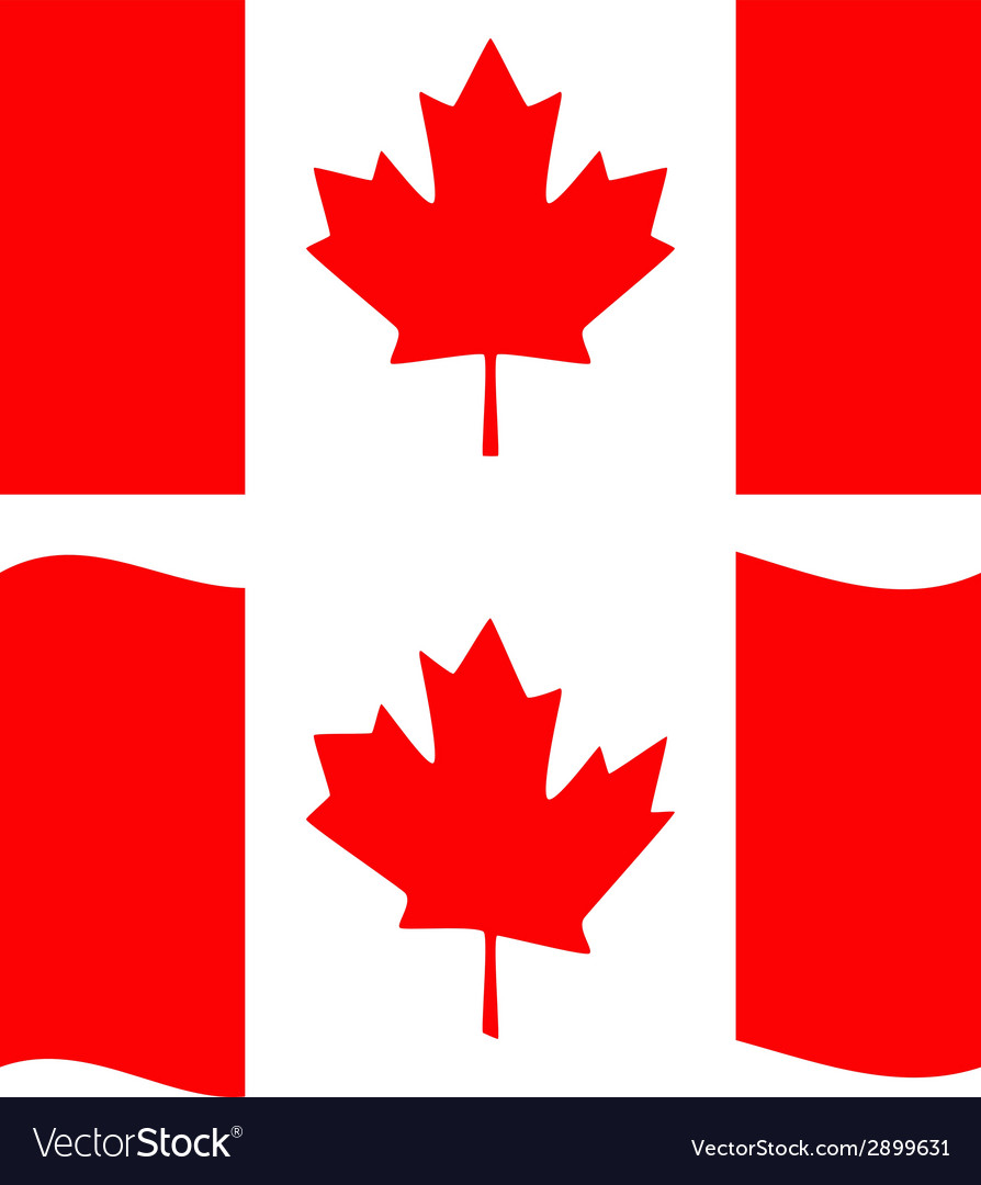 flat and waving canada flag royalty free vector image rh vectorstock com canada flag vector free download canada flag vector eps