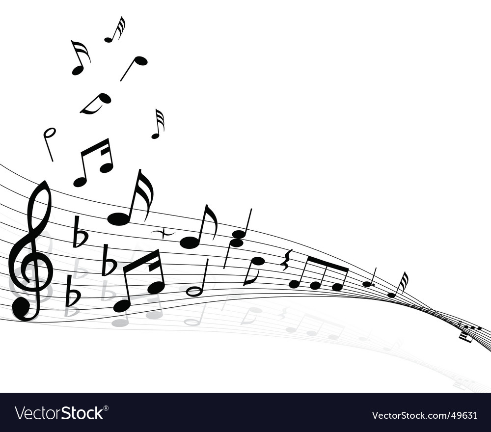 Musical notes backgrounds vector image