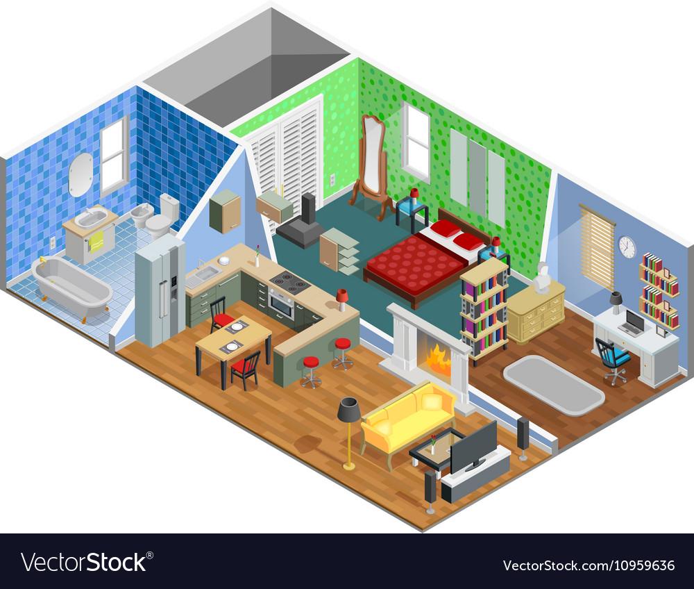 1608i201042Sm003c11apartment 3 rooms isometric