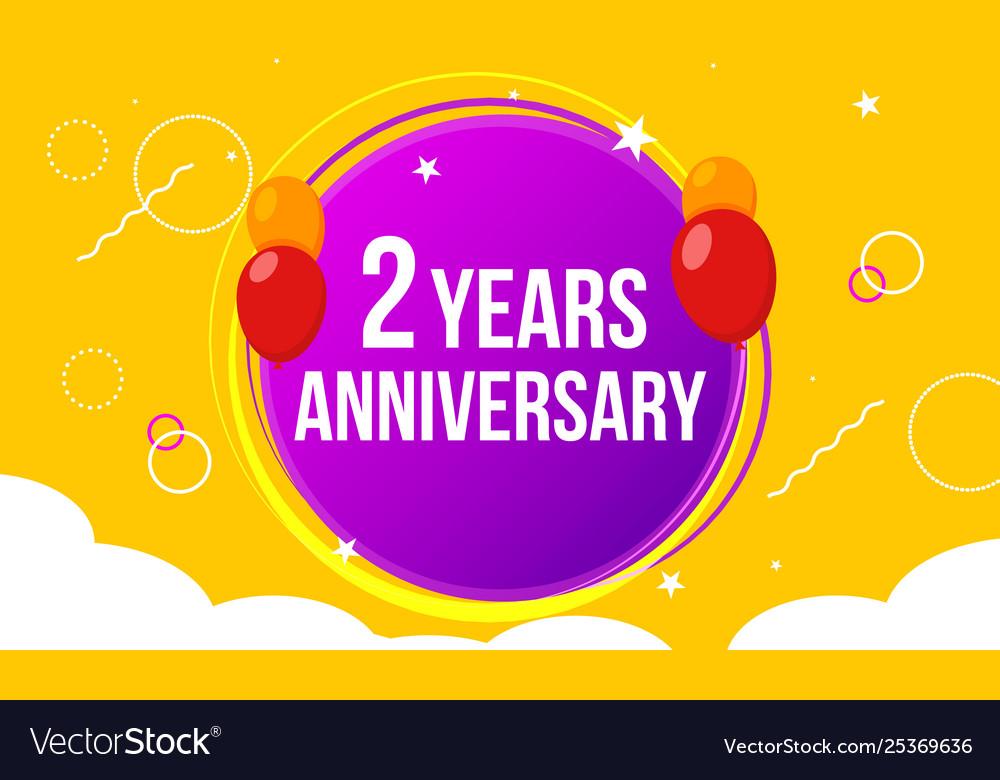2 anniversary happy birthday first invitation