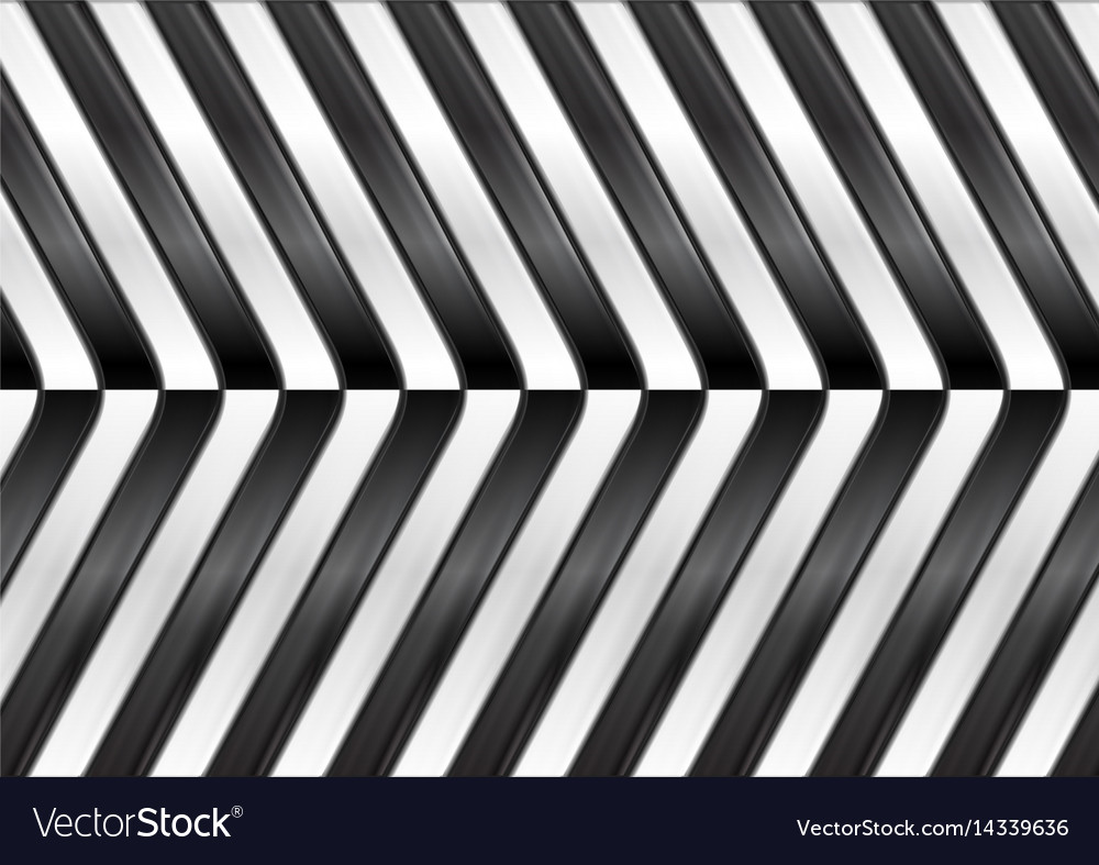 Black and white abstract glossy stripes vector image