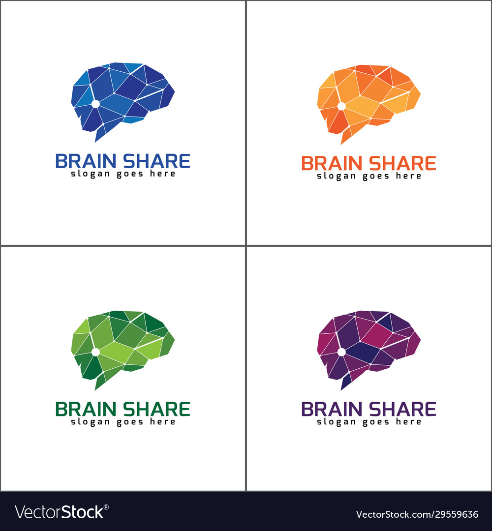 Brain logo with different color