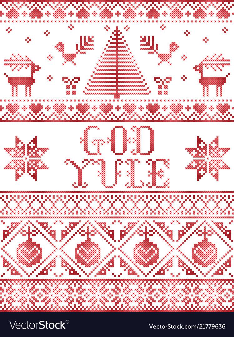 Christmas pattern god yule seamless Royalty Free Vector