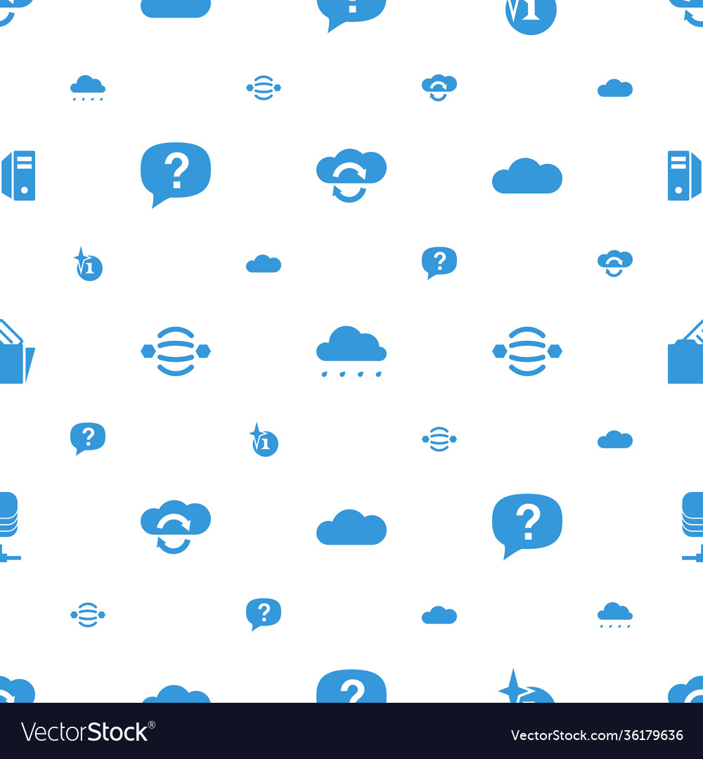 Cloud icons pattern seamless white background