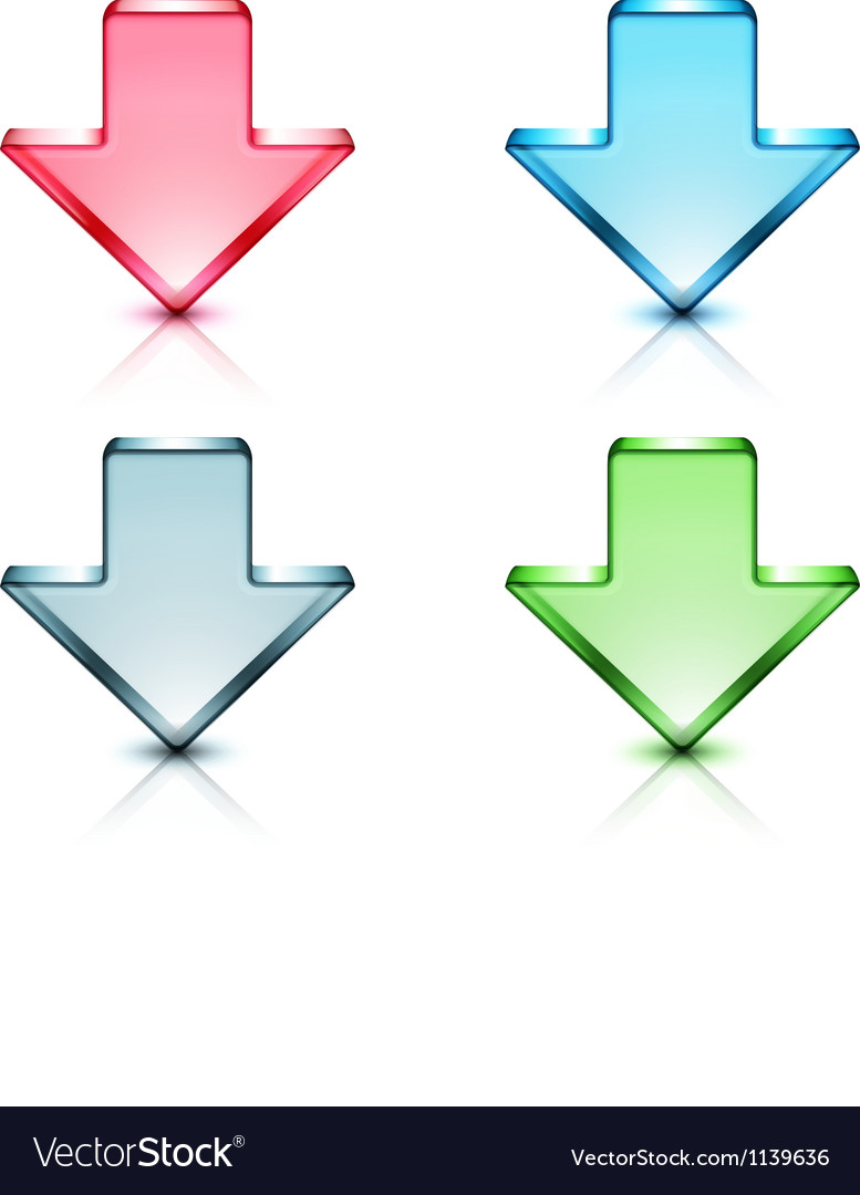 Download concept icons vector image