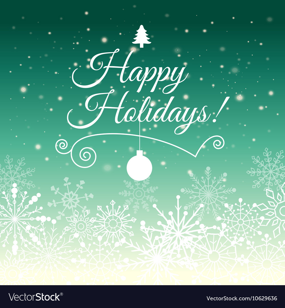 E Card For Happy New Year And Merry Christmas Vector Image