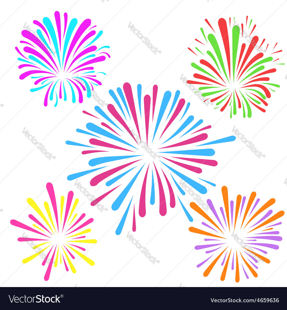 Festive Fireworks Pattern Template Layout Vector Image