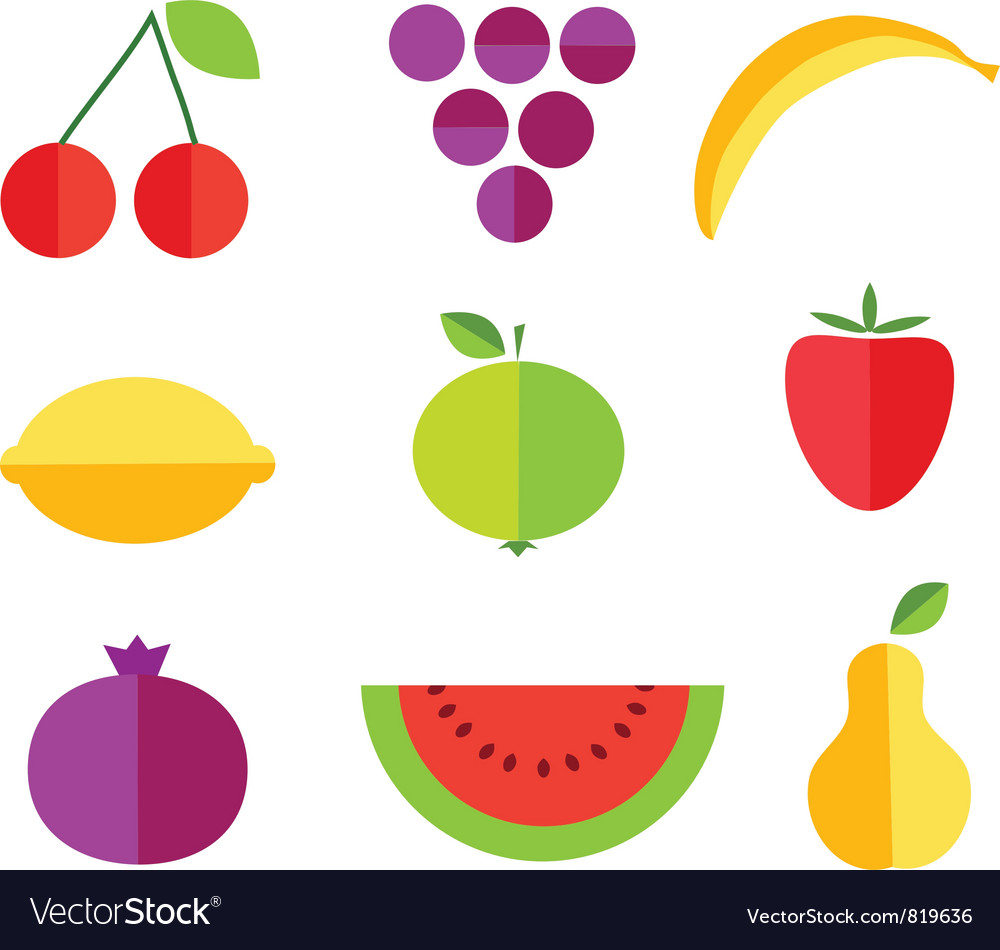 fruit forms with fruits template royalty free vector image