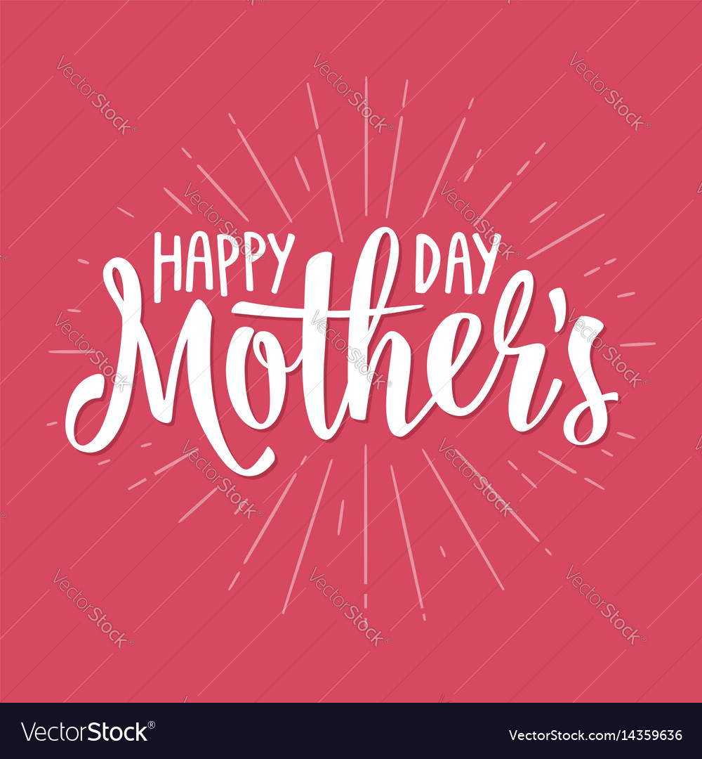 Happy mother s day lettering vintage
