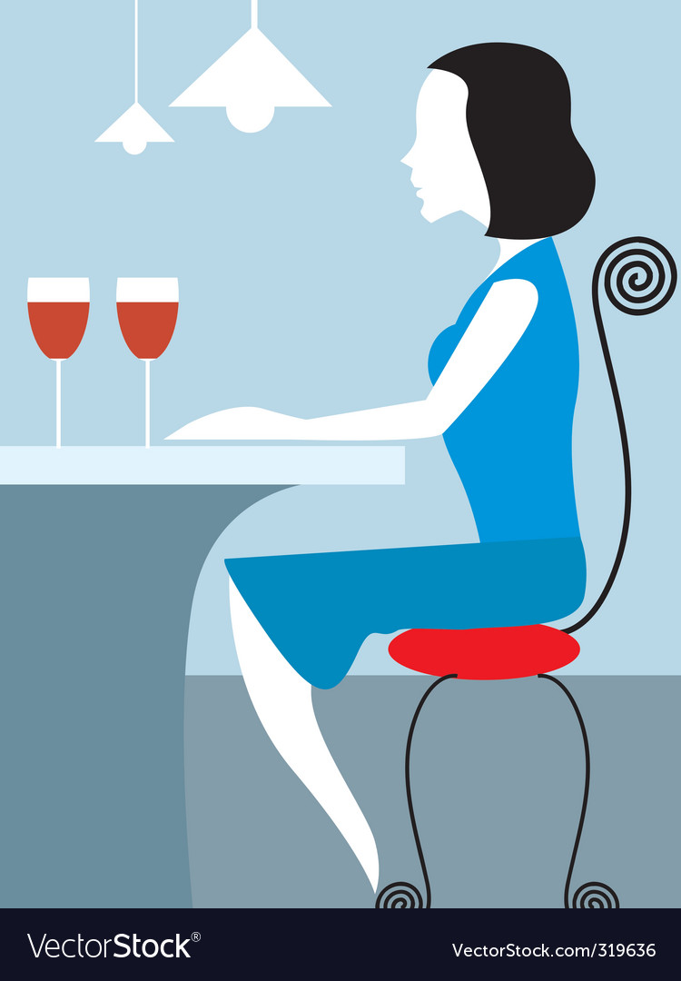Lady and wine vector image