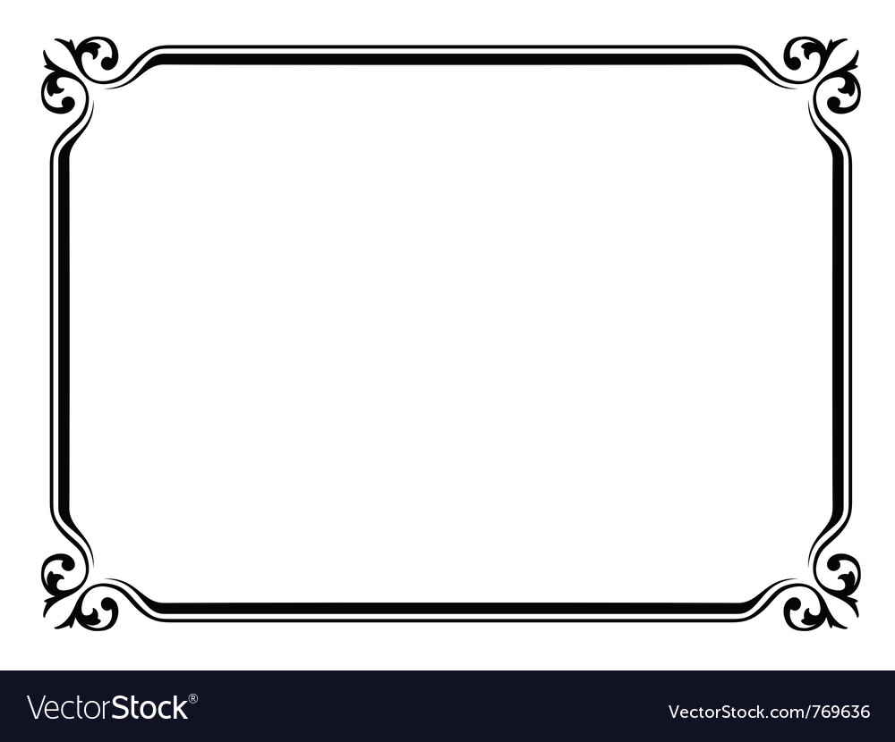 Simple ornamental frame
