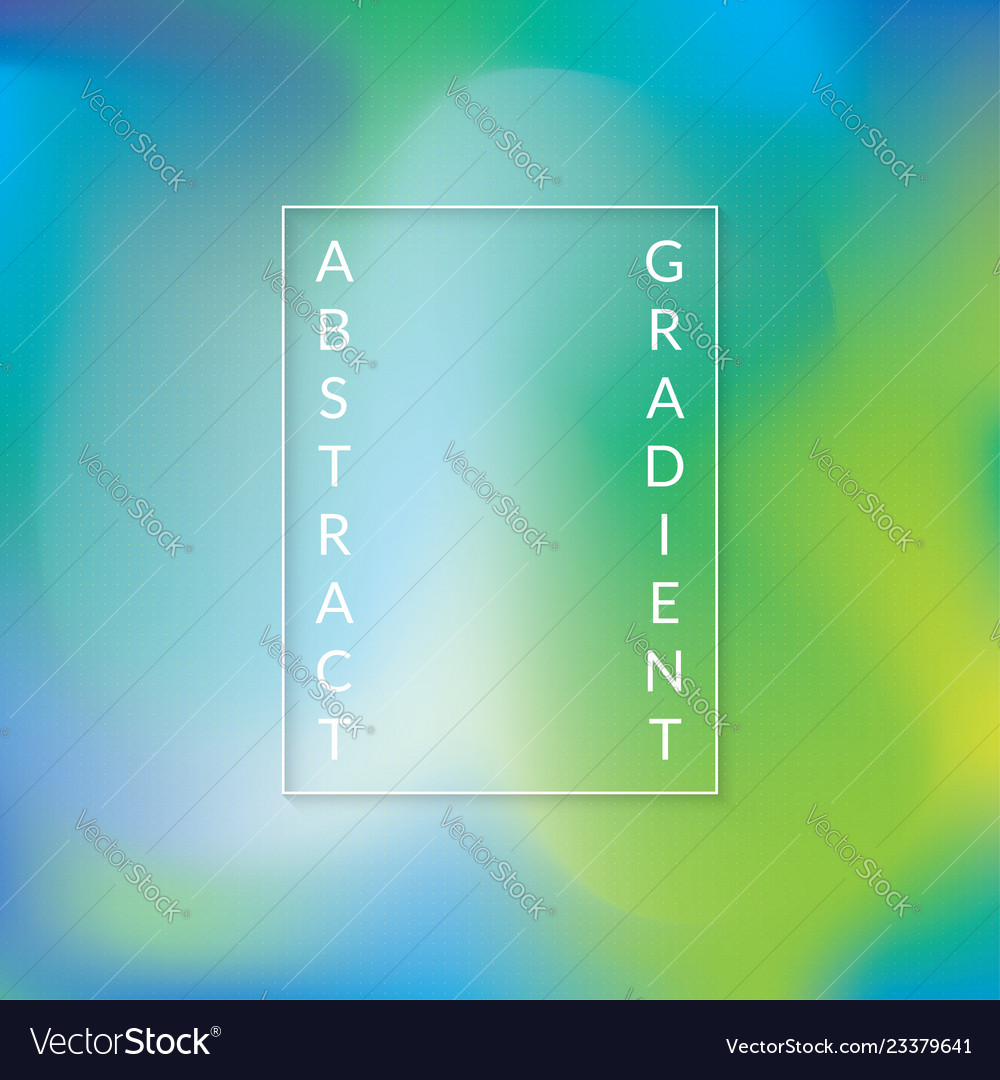 Abstract gradient background with green and blue