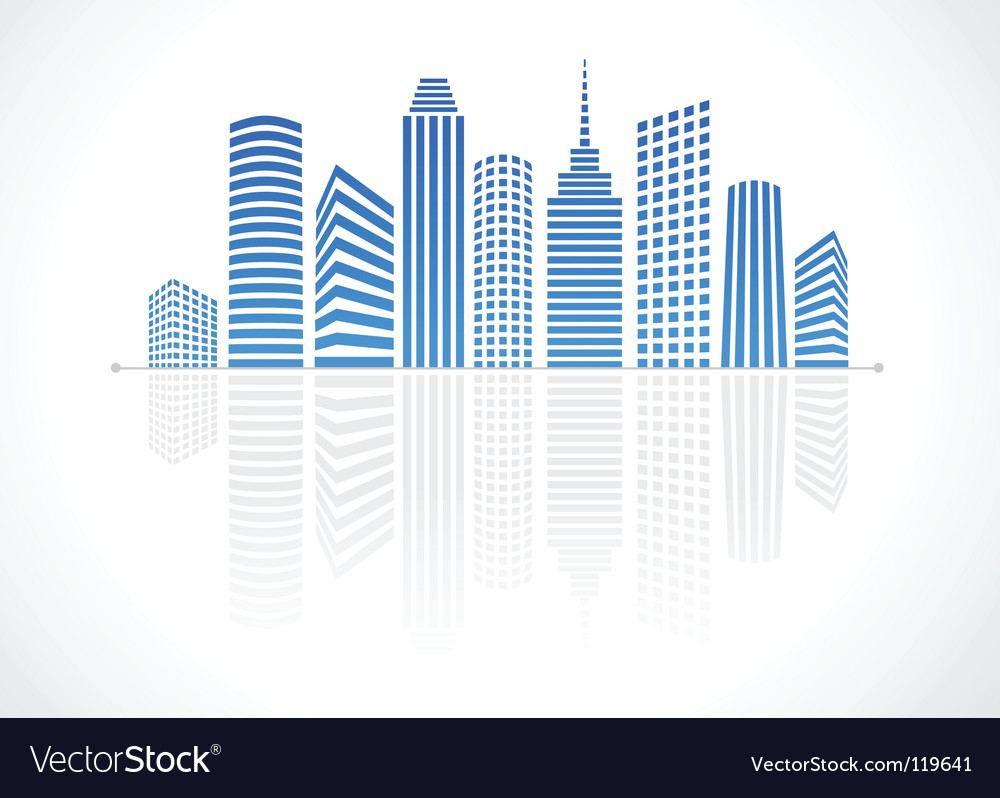 city real estate logo royalty free vector image