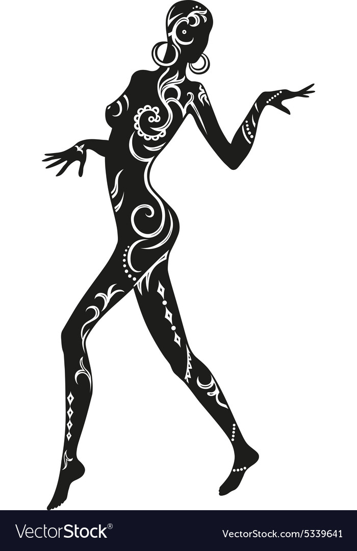 Dance of ethnic woman