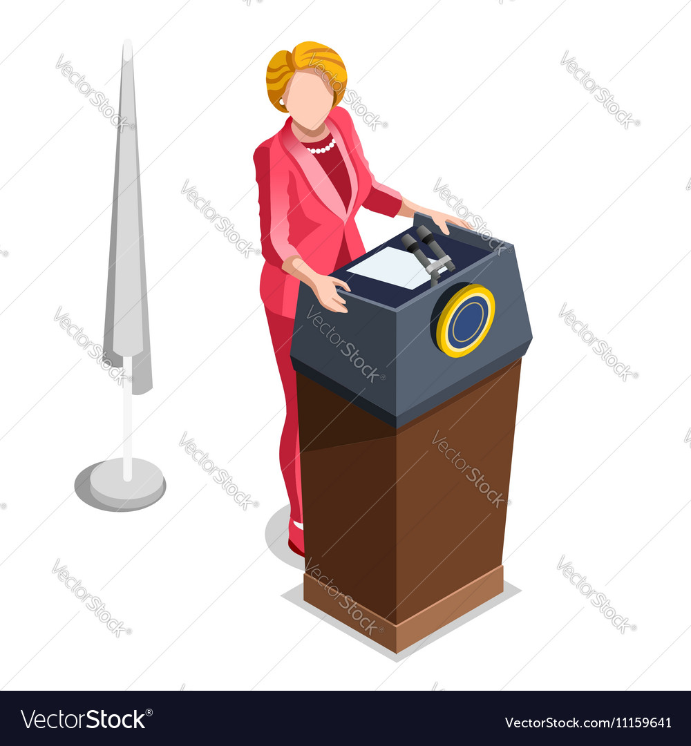 Election Infographic Politics Work Isometric vector image