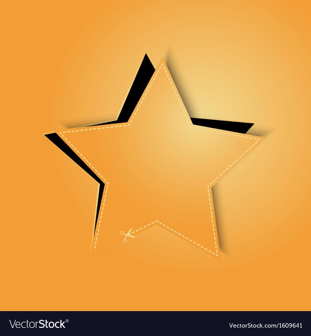 Golden paper star