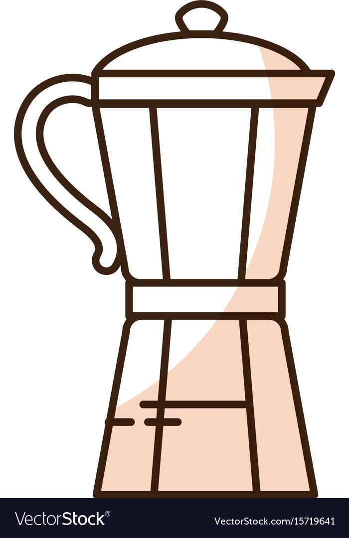 Kitchen kettle isolated icon