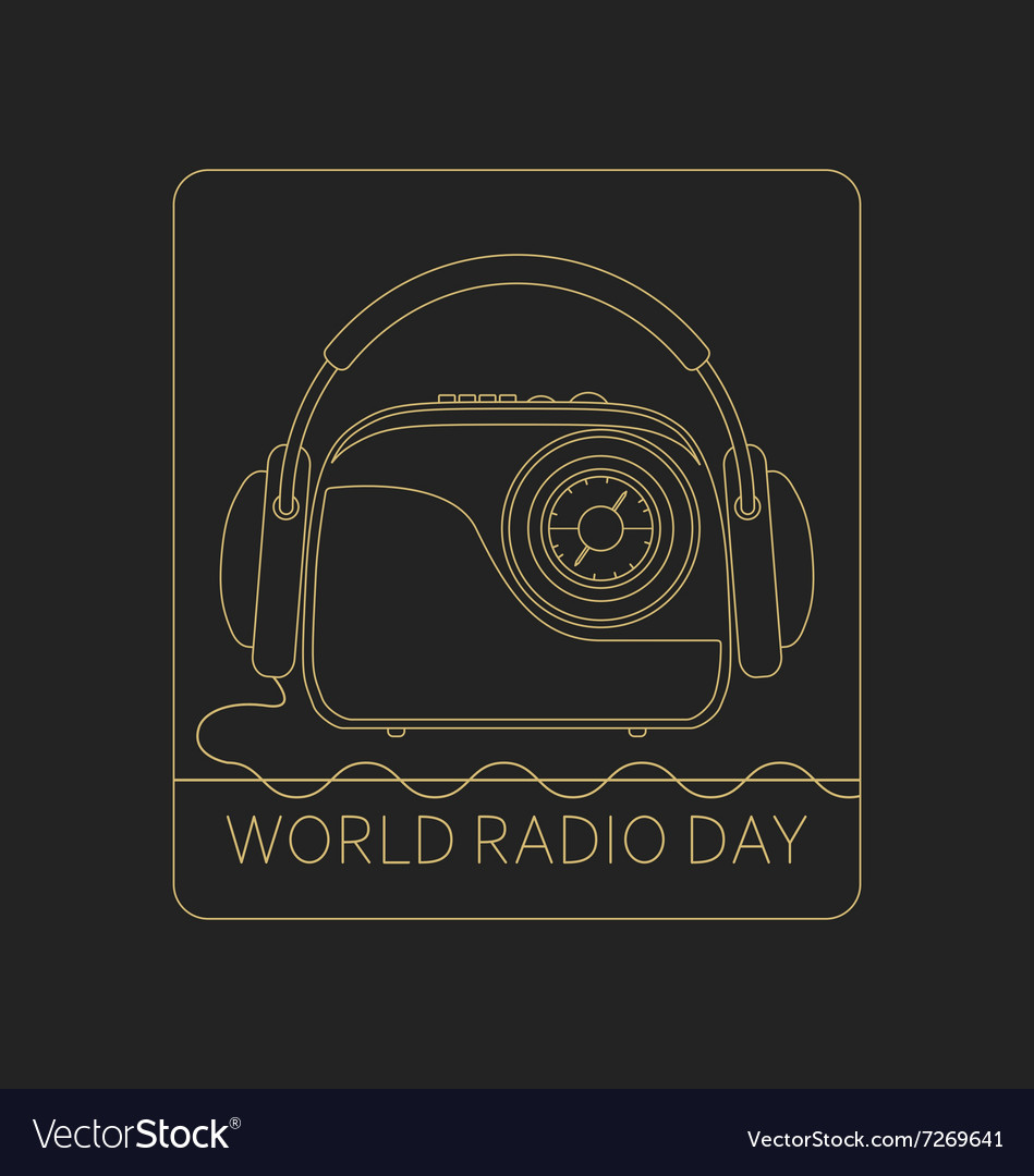 Mono line logo World Radio Day