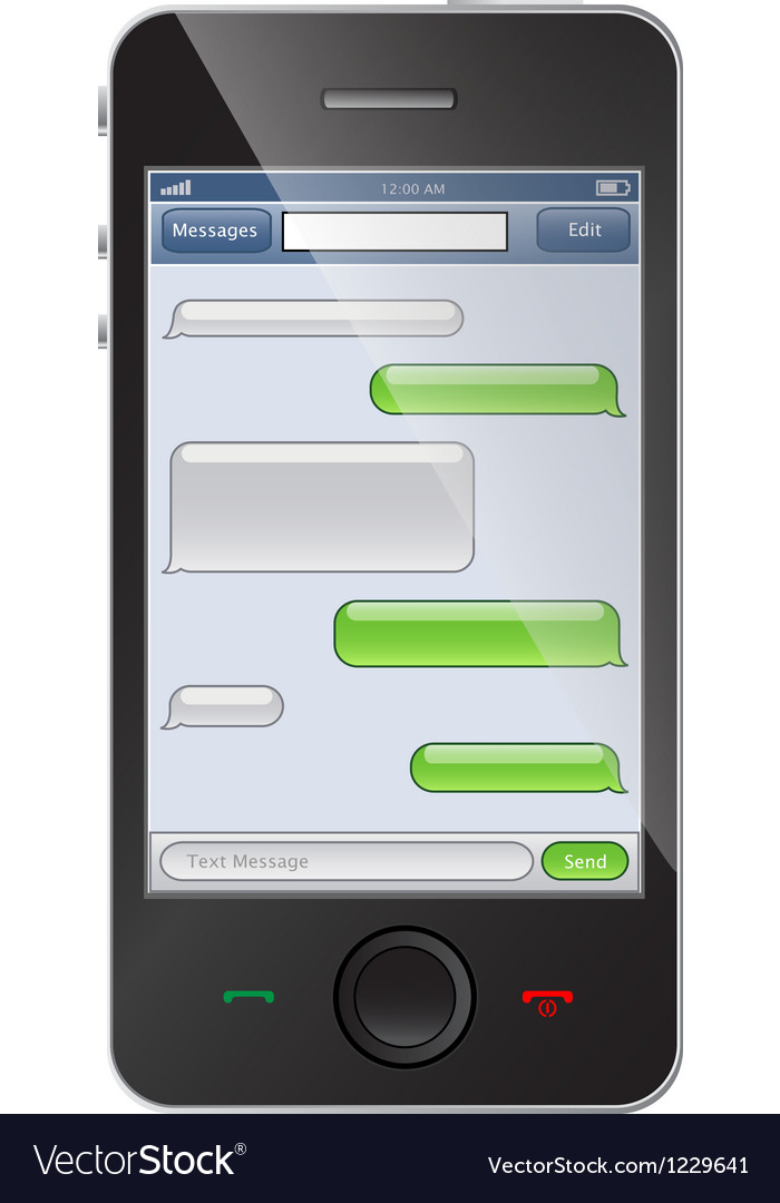 Phone with chat template vector image