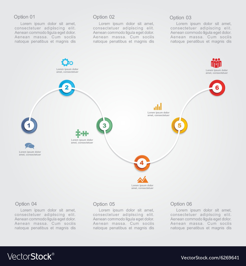 Timeline infographic layout template