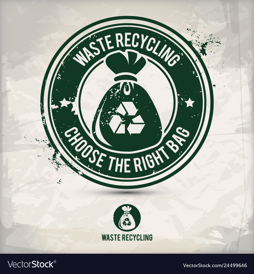 Alternative waste recycling stamp