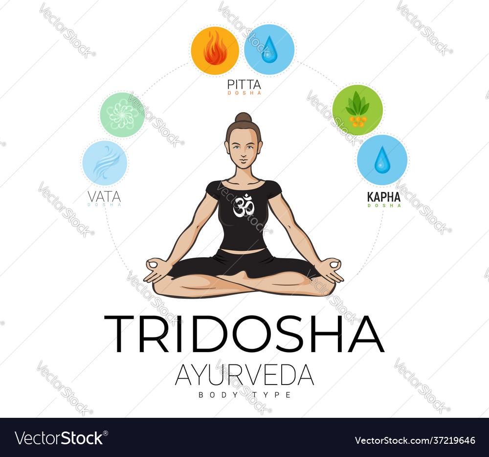 Ayurvedic doshas in balance yogi woman