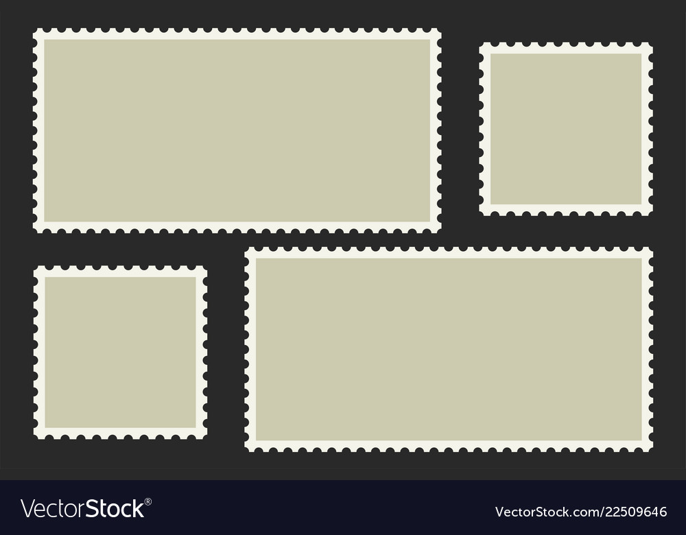 Blank postage stamps light postage stamps on