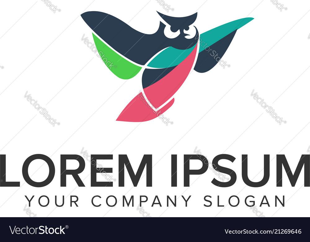Owl logo design concept template