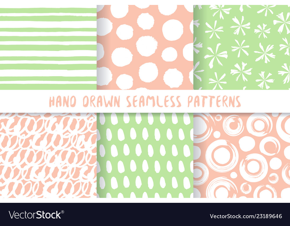 Set of six stylish patterns