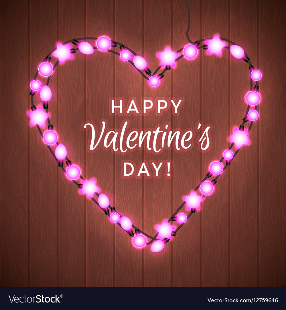 Valentine s day background with bright lights