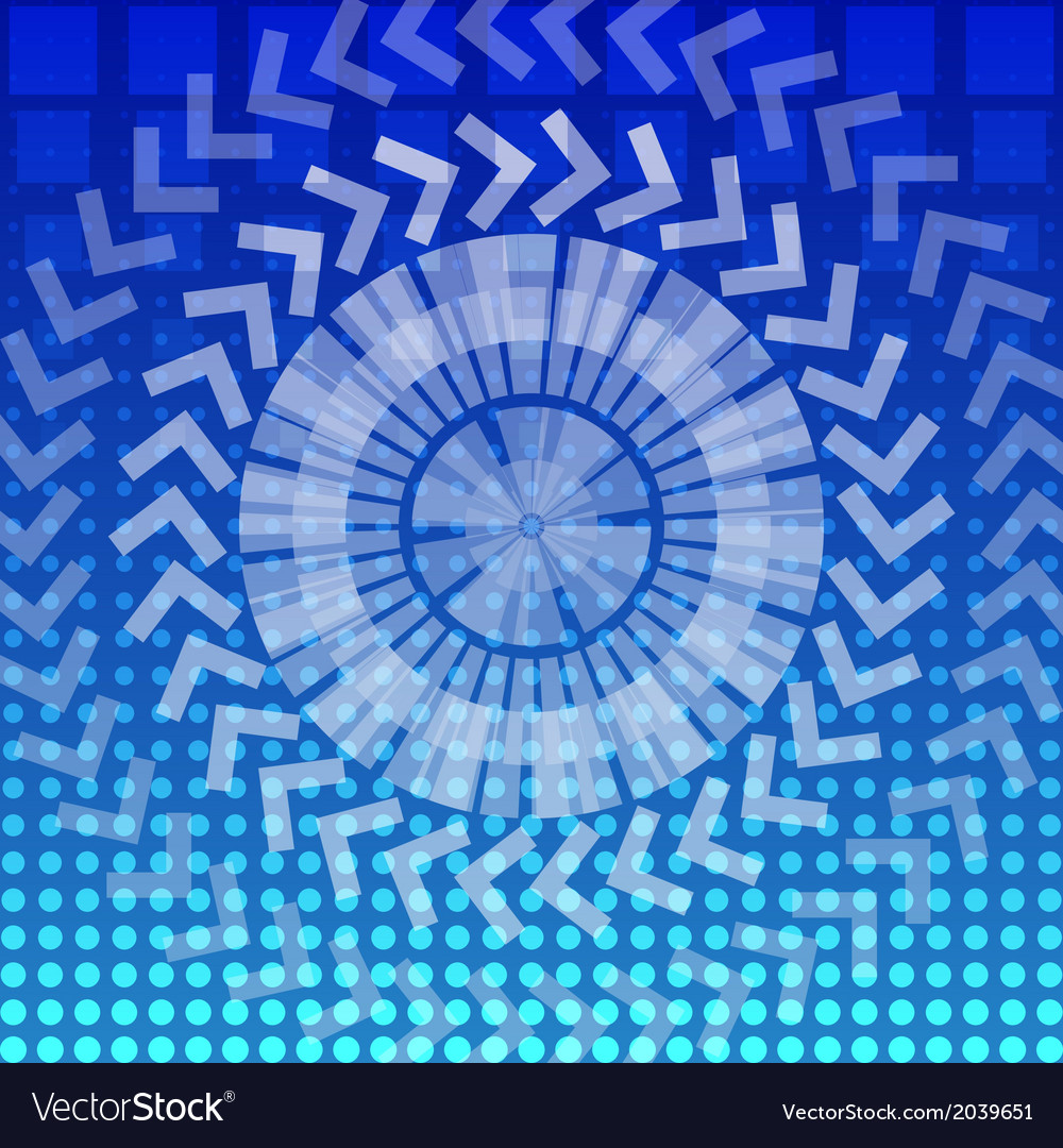 Abstract round geometric pattern background