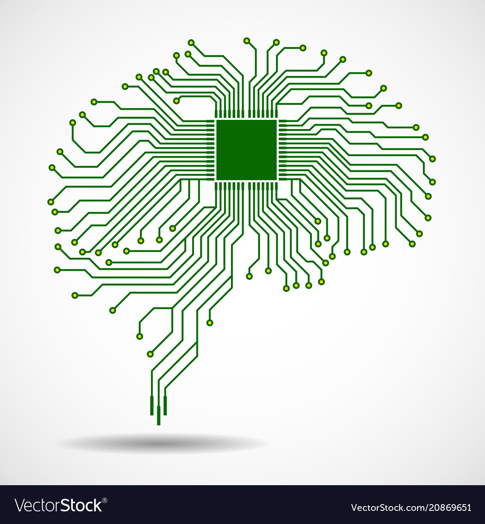 Abstract technological brain cpu
