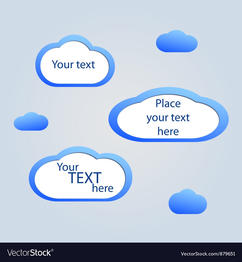Abstract web design background with clouds
