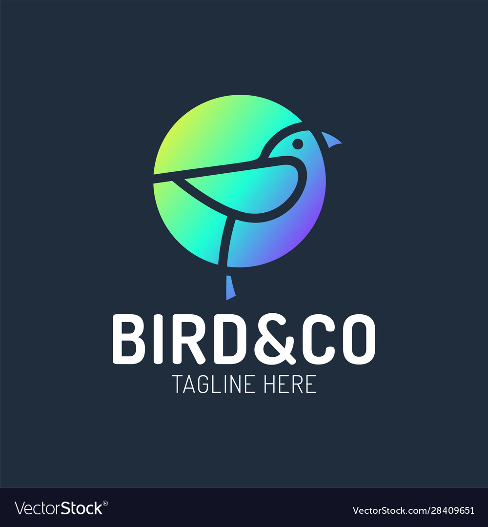 Bird logo design with circle shape concept