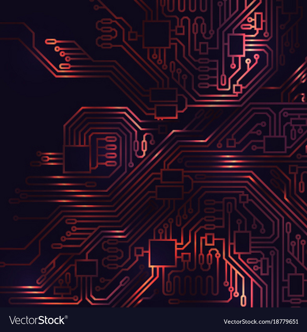 Circuit board abstract background Royalty Free Vector Image