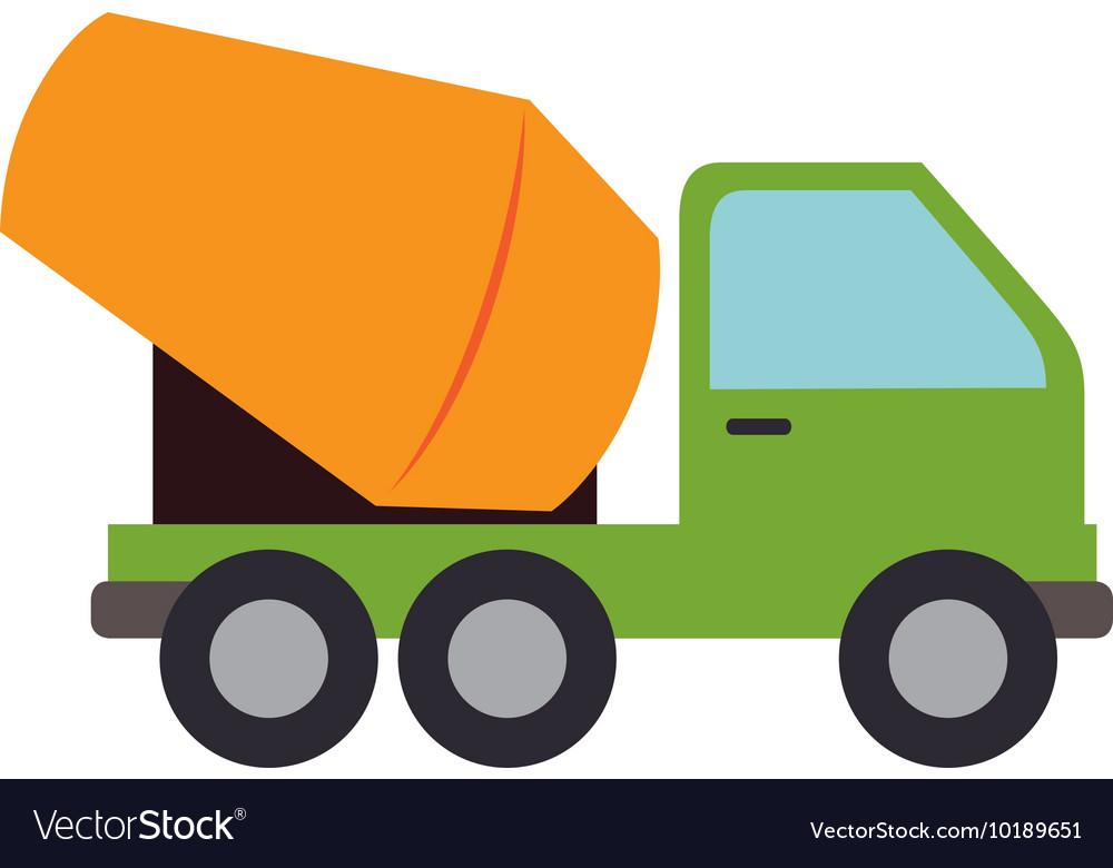 Concrete mixer truck cement icon graphic