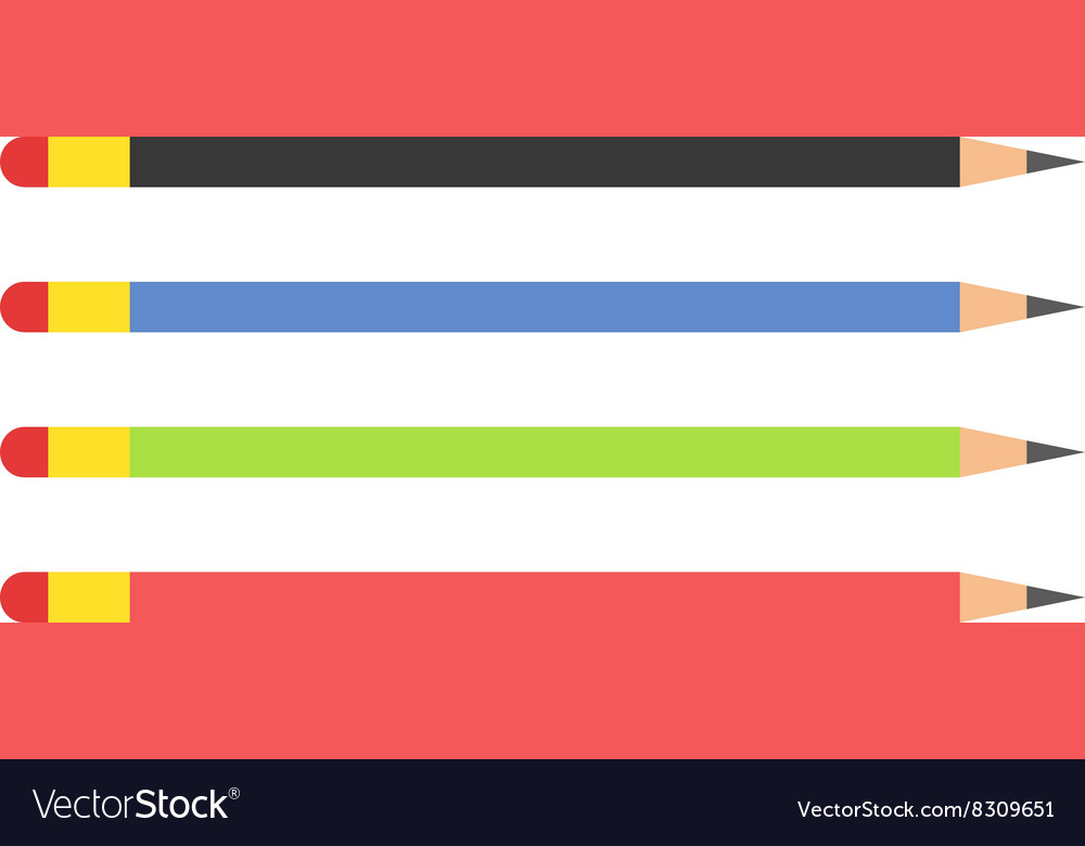 Pencils Colored flat